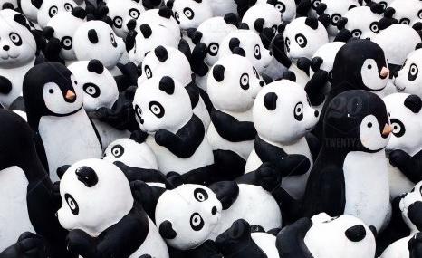 Stock photo black white elephant toys panda 99b671da 718e 4753 b683 266f3e60464a
