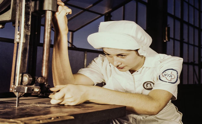 Factory worker vintage industrial 162573